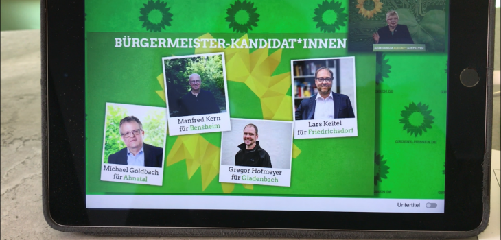 Bürgermeisterkandidat Christof Fink aus Oberursel, Alexander Unrath aus Bad Homburg. Gregor Hofmeyer für Gladenbach, Lars Keitel für Friedrichsdorf